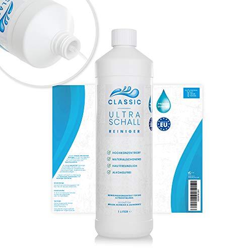Classic Ultraschallreiniger Konzentrat 1000ml - Reinigungskonzentrat inkl. Flaschenausgießer für jedes Ultraschallreinigungsgerät - Ultraschall Reiniger für Brillen (1 Liter Classic) - Ultraschall Brillen-reiniger