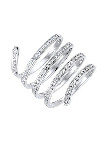 Elli PREMIUM Damen Ring 925 Sterling Silber Zirkonia weiß Rundschliff Gr.52 (16,6) 0605592 Preisvergleich
