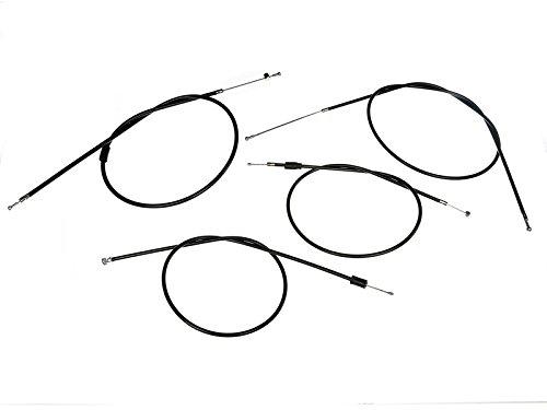 AKF Bowdenzug-Set in Schwarz - für Simson S51, S70, S53, S83