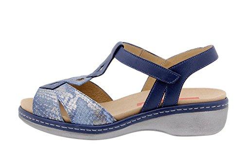Komfort Damenlederschuh PieSanto 1821 Sandale mit herausnehmbarem Fußbett bequem breit Jeans