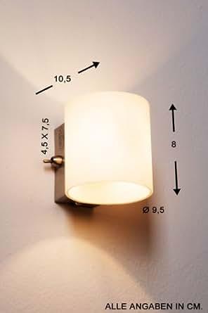 moderne wandlampe mit schalter beleuchtung. Black Bedroom Furniture Sets. Home Design Ideas