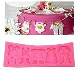 Fondant Silikon Form, Baby Dusche Kleiderbügel Kuchen dekorieren Chocolate Candy Cupcake-Form Form