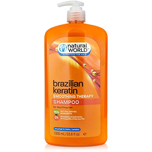Natural World Brazilian Keratin Smoothing Therapy Shampoo 1L