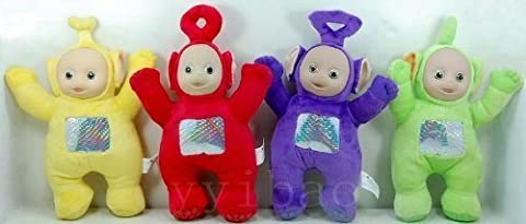 Teletubbies Set of 4 Plush Dolls Featuring 8