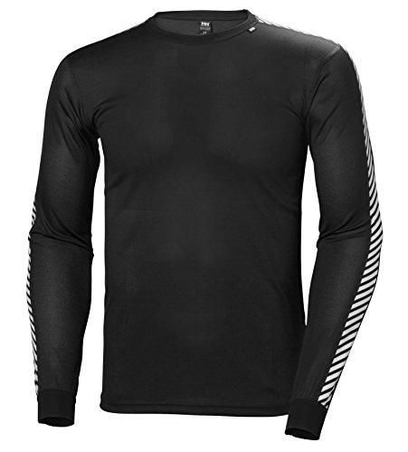Helly Hansen Herren Funktionsshirt Dry Stripe Crew, schwarz, L, 48800