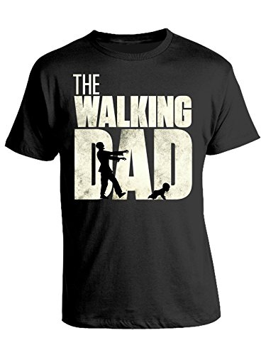 Tshirt the walking dad - festa del papà - happy father's day - in cotone by bubbleshirt