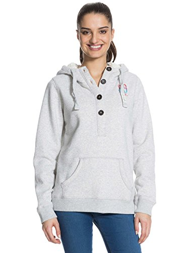 Damen Kapuzensweater Roxy Aby Middle Hoodie Heather Grey