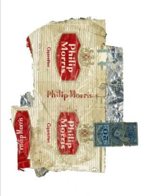 philip-morris-firmato-edizione-limitata-di-175-serigrafica-con-foglia-argento-arte-stampa-da-peter-b