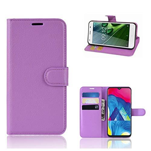 Ronsem Xiaomi Mi8 Youth / Mi8 Lite Hülle PU Leder Wallet Schutzhülle mit Kartenschlitz Flip Handyhülle für Xiaomi Mi8 Youth / Mi8 Lite - Lila
