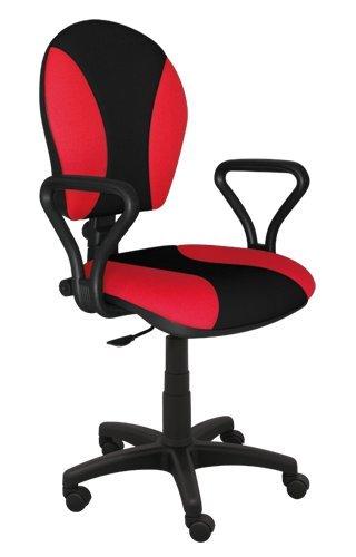 Best For Office Bürostuhl Höhenverstellung Schreibtischstuhl MARKO Modell (ROT-SCHWARZ)