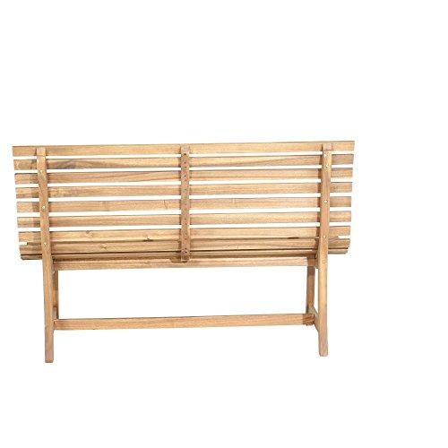 Siena Garden 2er Bank Santana, 67,5x140x92,5cm, Akazienholz, geölt in natur, FSC 100% - 4