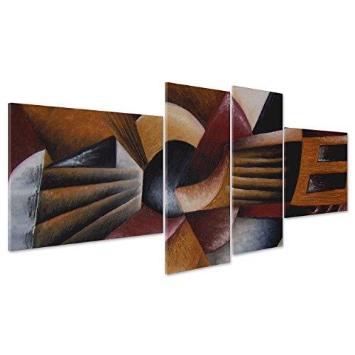 Cuadro sobre lienzo Canvas–ConKrea–Listo para colgar–Guitarra Música–cubismo–Picasso Style