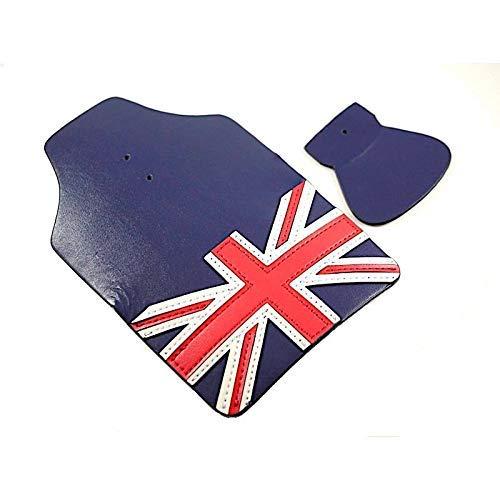 London Craftwork Cuero Trasero a Delanteros Guardabarros Aletas para Brompton Union Jack Azul