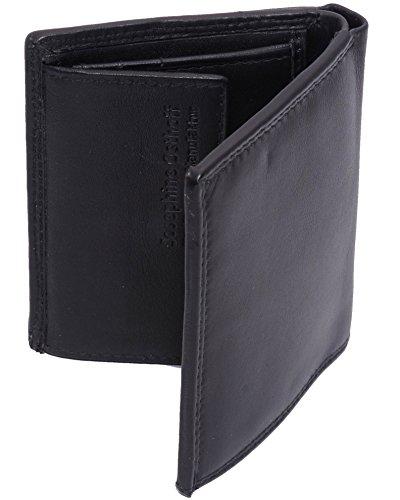 Josephine Osthoff Handtaschen-Manufaktur Josybag's handlich kleine Leder Geldbörse Kies schwarz 10 Karten -