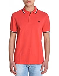 Fred Perry Homme FPM360021D74 Rouge Coton Polo