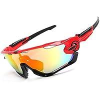 Spohife Sports Lunettes de soleil, protection UV 400Lunettes de sport avec lentille Rveo pour homme et femme–Cyclisme Ski Pêche Golf, blanc