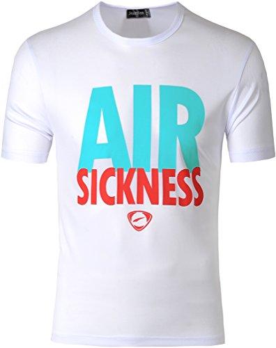 Jeansian Herren Sportswear Quick Dry Short Sleeve T-Shirt LSL182 LSL181_White