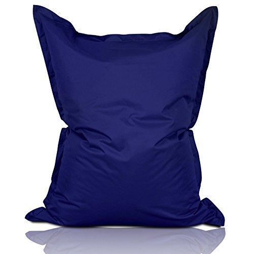 Lumaland Luxury Riesensitzsack XL Sitzsack 270l Füllung 120 x 160 cm Indoor Outdoor Dunkelblau