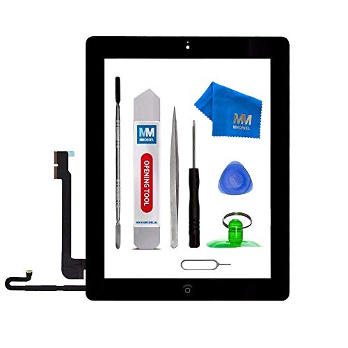 MMOBIEL Digitizer Compatible with iPad 4 (Black) 9.7 Inch Touchscreen Front Display Assembly Incl Tool kit (Ipad 4 Ersatz-bildschirm)