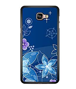 printtech Flower Spiral Design Back Case Cover for  Samsung Galaxy A9 (2016)