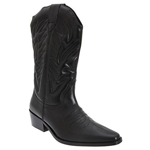 Gringos Herren High Clive Western Cowboy Stiefel (40,5 EU) (Schwarz) (Männer Cowboy-stiefel)