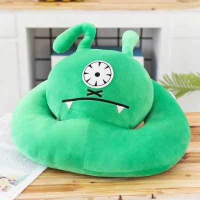 BBQBQ Kissen Cartoon Cute Lumbar Sleep nap Pillow Sleep Pillow Office seat Belt Lumbar Pillow Green Neck Pillow 60 * 50cm