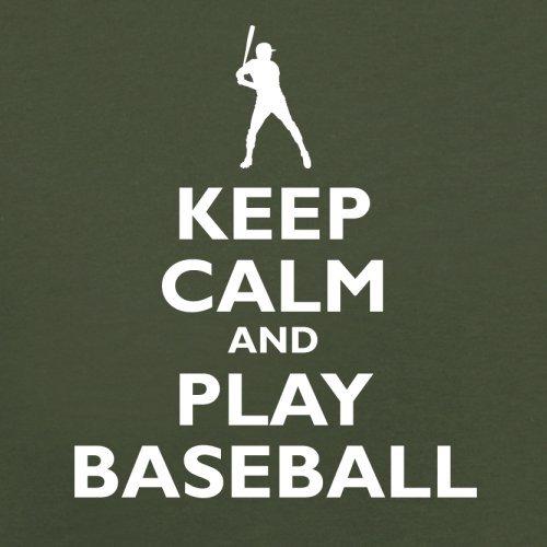 Keep Calm and Play Baseball - Herren T-Shirt - 13 Farben Olivgrün