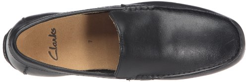 Clarks Malta Coast, Mocassins homme Noir (Black Leather)