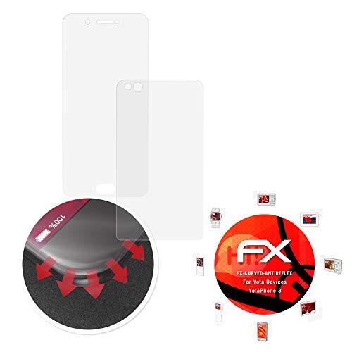 atFolix Schutzfolie passend für Yota Devices YotaPhone 3 Folie, entspiegelnde und Flexible FX Displayschutzfolie (3er Set)