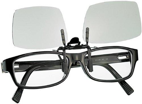 Somikon 3D Brillenclip: 3D-Aufsatz für Brillenträger, Polfilter, zirkular (3D Brille für Brillenträger)