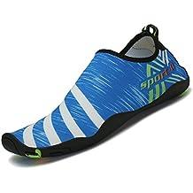 SAGUARO® Aquatique Chaussures de Plage Sport Chausson Pour Nager Surf Bain Respirant Antidérapant Été Homme Femme