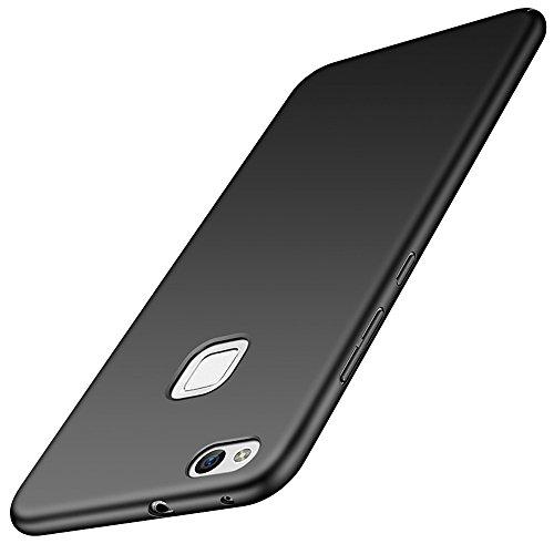 for Huawei P10 Lite/Nova Lite Hülle, ZUERCONG [Matte Serie] Ultra Dünn Slim Cover Case Anti-Scratch Shockproof Handytasche Hartplastik Schutzhülle für Huawei P10 Lite/Nova Lite, Glattes Schwarz