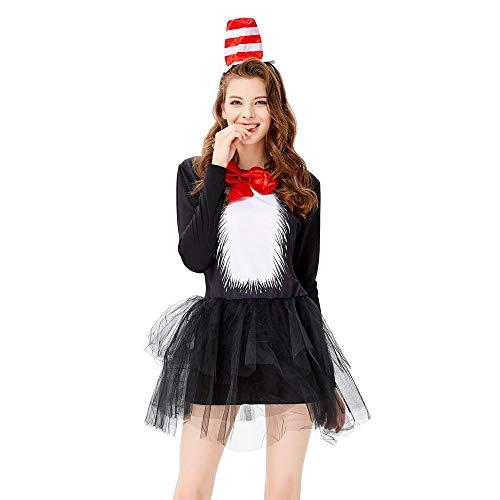 Tanz Kostüm Pinguin - YXRL Pinguin Cosplay Anzug Frauen Tier Halloween Kostümfest Requisiten Leistung Kostüm Black-M