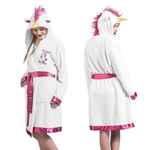 Minions I Love Fluffy Unicorns Vestaglia bianco/rosa one size