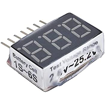 CAMWAY 5PCS 2in1 1-8s Lipo Li-ION Batterie Testeur de Tension Moniteur RC Alarme Basse Tension Alarme pour Lipo//Li-ION//LiMn//Li-Fe
