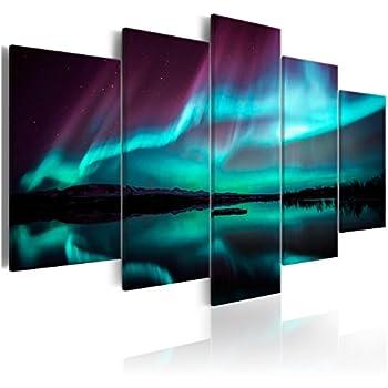 Decomonkey | Bilder Polarlicht 200x100 Cm 5 Teilig | Leinwandbilder | Vlies  Leinwand | Wandbilder | Wand | Bild Auf Leinwand | Wandbild | Kunstdruck ...