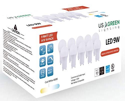 Br30 Dimmbare Cfl (LED-Leuchtmittel, GU24, drehbar, A19, 9 W (entspricht 60 W), dimmbar, Bi-Pin, 4000 K (Neutralweiß), 800 Lumen, UL-gelistet.)