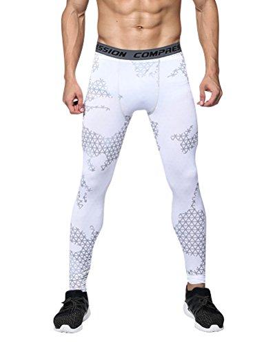 MISSMAO Men's Sports Compression Baselayer Leggings Tights Gym Training Pants