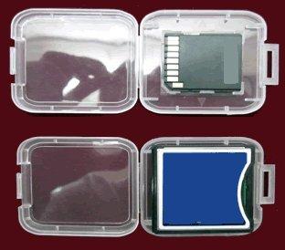 5x emballage ou rangement pour SDHC et cartes mémoire CF
