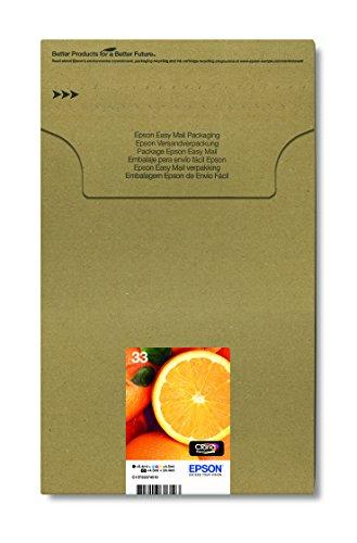 Epson Original 33 Tinte Orange (XP-530 XP-630 XP-635 XP-830 XP-540 XP-640 XP-645 XP-900 XP-7100, Amazon Dash Replenishment-fähig) Multipack 5-farbig