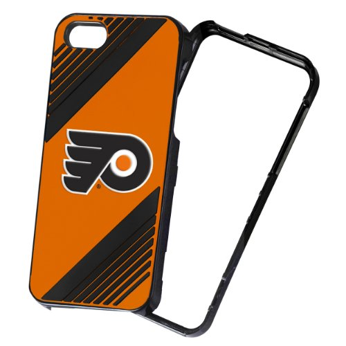 Price comparison product image Forever Collectibles NHL 2-Piece Snap-On iPhone 5 / 5S Polycarbonate Case - Retail Packaging - Philadelphia Flyers
