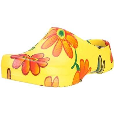 Birki SUPER BIRKI PU 68591, Chaussures femme - Jaune (Yellow Flower), 38 EU
