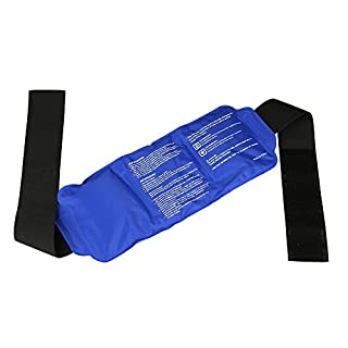 AZX Reusable Hot Cold Gel Pack Ice Pack For Hot & Cold Therapy Flexible Ice Pain Relief Pack With Strap For Back Shoulder, Neck, Waist, Knee, Elbow