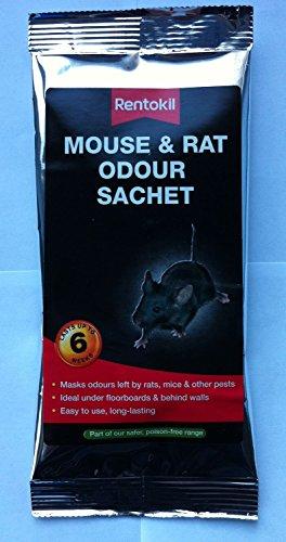 Lot de 2 sachets de produit anti-odeur de rats / souris