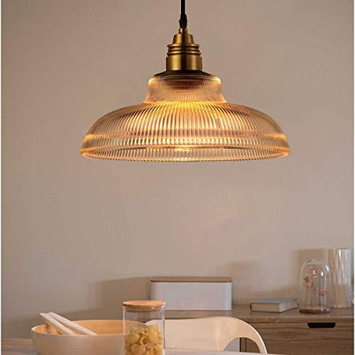 Weihnachtsbeleuchtung Amerikanischen edison glas pendelleuchten loft retro streifen pendelleuchte für bar restaurant zimmer suspension leuchte Gang (Farbe : Amber-AC 110V)