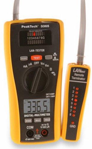 PeakTech 685010 LAN-Tester mit digitalem Multimeter, 3365