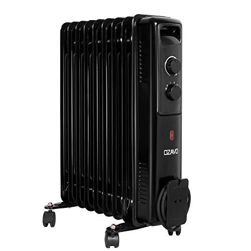 OZAVO Radiador de Aceite 9 Elementos 2000W,3 Niveles de Potencia,Control de Temperatura con termostato...