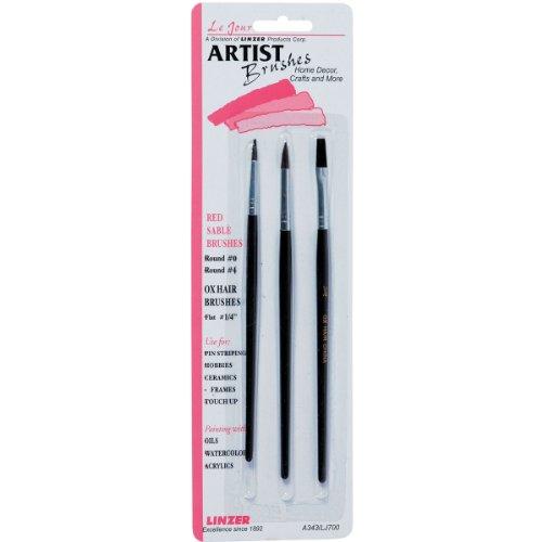 Red Sable Artist Brush Set-3/Pkg -