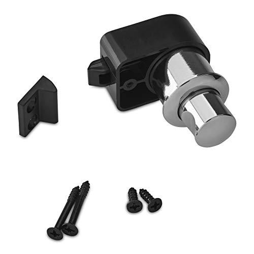 3 x Push-Lock Möbelschlösser CAMPIA Chrom poliert Druckschlösser Schrankschlösser für Caravan & Boot von SO-TECH