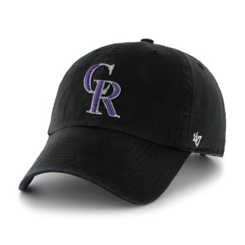 MLB slouch Baseballcap/Basecap COLORADO ROCKIES black Home Logo adjustable